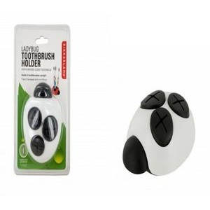 White Ladybug Toothbrush Holder